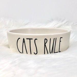 *NEW* Rae Dunn CATS RULE Pet Bowl | NWOT